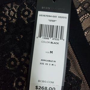 BCBGMaxAzria Dresses - NWT BCBG BLACK AND TAN DRESS SIZE M NEVER WORN